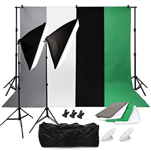 Fotostudio Beleuchtungsset mit 2 LED Fotoleuchten und Softbox