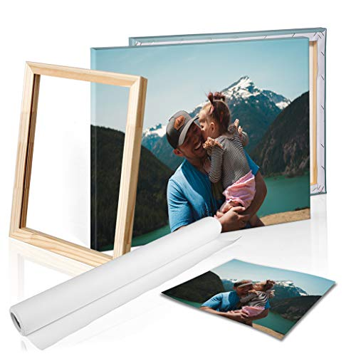 DON LETRA Cuadro en Lienzo Personalizado con tu Foto o Imagen, 50 x 40 cm, Varias Medidas, Impresión en Lienzo, Enmarcado sobre Bastidor de Madera