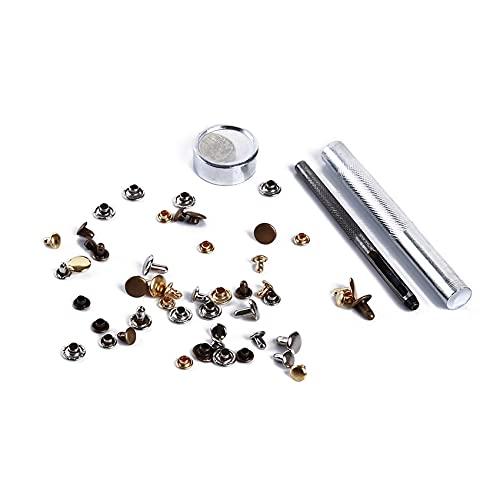 Figutsga - Remachador tubular de metal con kit de herramientas de fijación para reparación de artesanía de...