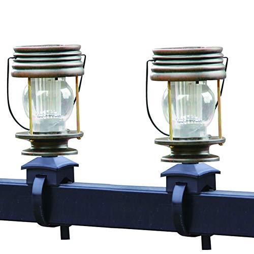DJSDFHB Luz de la Correa de la barandilla Solar LED, Retro Villa jardín jardín luz balcón luz Caballo luz Colgante lámpara (Dos)