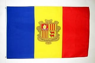 AZ FLAG Bandera de Andorra 150x90cm - Bandera ANDORRANA 90 x 150 cm