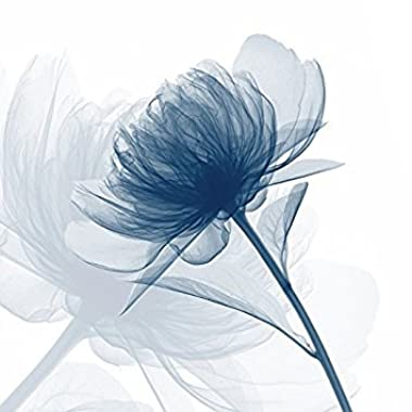 Wieco Art Blue Flickering Flower Canvas Prints Wall Art Perfect Floral Pictures Paintings Ready to Hang for Living Room Bathroom Home Decorations Large Modern Gallery Wrapped Grace Abstract Artwork