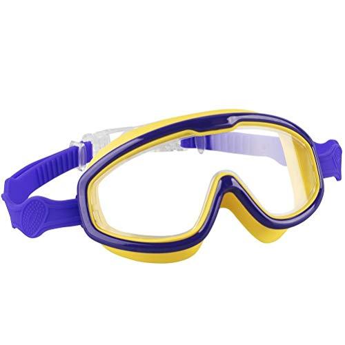 Passer Gafas de natación para niños, resistentes al agua, lentes de protección, lentes de visión ancha transparente, protección UV, antivaho, para niños y niñas