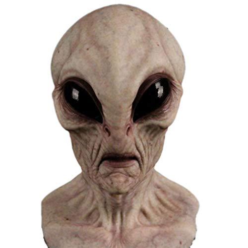 JCOC Halloween Alien Mask Scary Horrible Horror Alien mask Magic Mask (D)