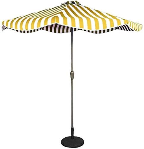 CRMY Sombrillas De Patio Al Aire Libre 9 Pies / 2,7 M Sombrilla De Patio A Rayas para Exteriores, para Jardín, Terraza, Patio Trasero Y Piscina, Protector Solar UV50 +, 5 Colores