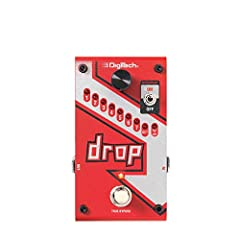 Polyphonic drop tune allows you to drop tune from 1 semi-tone to a full octave Momentary or latching mode footswitch True Bypass 33 9 pitch modes 9VDC Power Supply included
