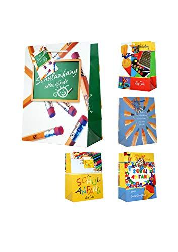 10 Geschenktüten medium Schulanfang 23 x 18 x 10 cm Geschenktaschen Geschenkbeutel Taunus Grußkarten Verlag 61-2022