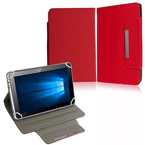 NAUC Tasche Hülle Schutzhülle für XORO TelePAD 10A3 Hülle Cover Bag Schutz Etui, Farben:Rot