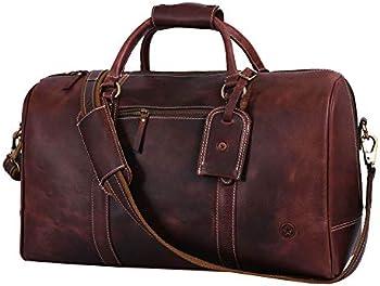 Aaron Leather Weekend Travel Duffle Bag
