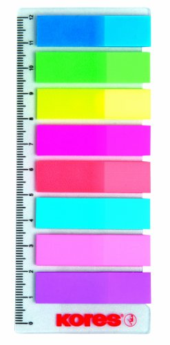 Haftstreifen 12x45 8x25Bl. Neon + Lineal