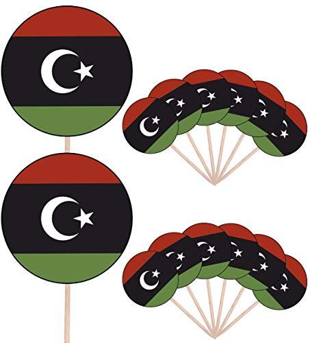 Libië Vlag Partij Voedsel Cake Cupcakes Picks Sticks Vlaggen Opstaan Decoraties Toppers (Pack van 14)