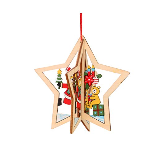 Christmas Tree Decorations Wooden Hanging Tags Pendant Ornaments 1PC Home & Garden Decoration & Hangs
