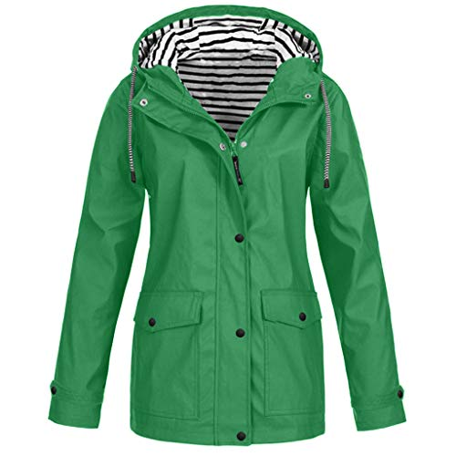 Regenmantel Damen Winterjacke Parka Pumps Wintermantel Outdoor Plus Solide Wasserdichter Kapuzenjacke Regenjacke für Frauen Outdoorjacken Regenmantel mit Kapuze Windproof