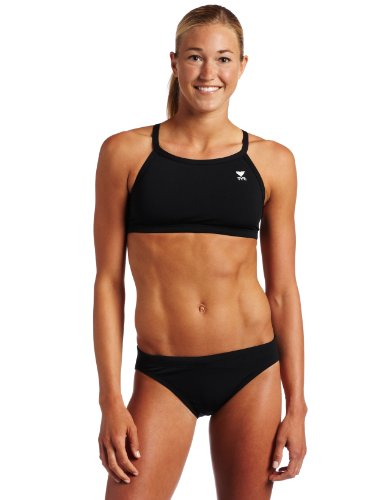 TYR Sport Damen massiv Durafast Diamondback Workout Bikini Medium schwarz