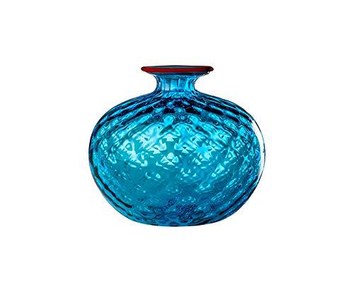 Venini Vase Monofiori Balloton Aquamare 12,5 cm H 12,5 cm
