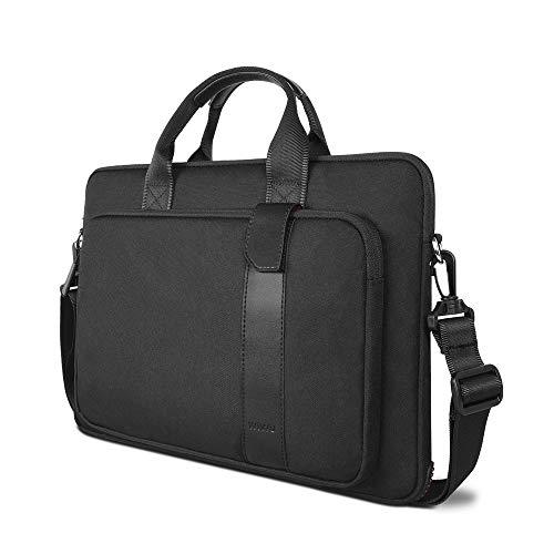WIWU 15.6 Inch Laptop Shoulder Bag for Acer Aspire 3/5/7 Laptop, HP Pavilion 15.6, Dell Inspiron 15 3000,15.6 ASUS ROG Zephyrus and More Acer Thinkpad Notebooks (black)