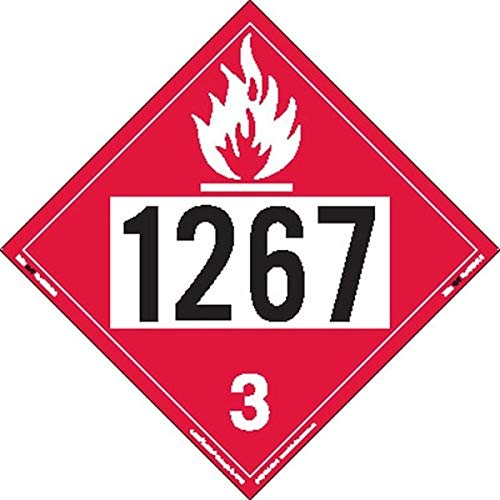 Labelmaster ZVR21267 UN 1267 - Salvamanteles de vinilo desmontable (25 unidades)