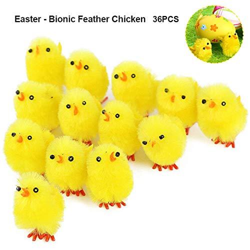 Juguete de 36 piezas para simulacin de Pascua, pollitos pequeos, juguete de peluche, gallina, regalo,...