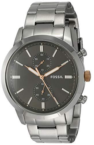 Fossil Men's Townsman Quartz Stainless Steel Watch, Color: Silver (Model: FS5407)