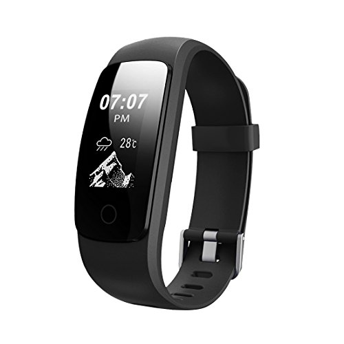 Smart Fitness Activity Tracker, 11TT YG3 Sport Bracelet Wristband Pedometer Touch Screen with Step Tracker/Calorie Counter/Sleep Monitor/Call Notification Push for iPhone iOS and Android Phone (Black)