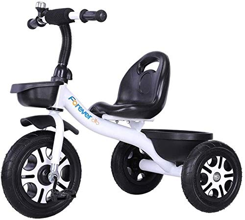 JINHH Light Tricycle, Kids Bicycle Kid Stroller Portable and Safety Kids Tricycle Comfortable and Safety Back Portable and Safety Seat with Bell Best for Baby