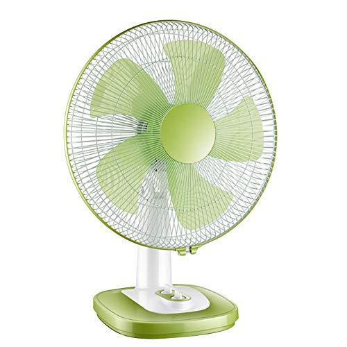 Ventilador De Mesa - Ventilador Silencioso - Ventilador Portátil, Puede Programarse Durante 1 Hora, Ajuste De 3 Velocidades, para Oficina, Hogar, Viajar, Ventilador De Pie Oscilante(Verde)