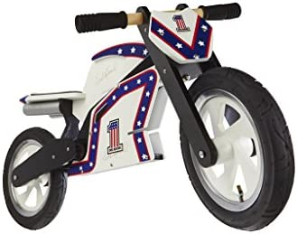 Kiddimoto Evel Knievel Wooden Balance Running Bike Ages 3 5 Years Officially Licensed for Kids product image