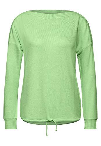 Street One Damen Shirt mit U-Boot Ausschnitt Sunny Lime Melange 44