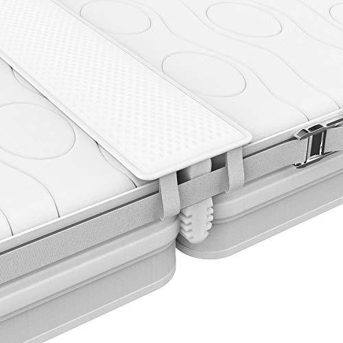 FLIPLINE Liebesbrücke für Matratzen ALL-IN-ONE Premium Set [200x18cm] für Familien & Paare mit rissfestem Bezug, Spanngurt und Transporttasche - doppelte Liegefläche ohne nachjustieren in 2 Min