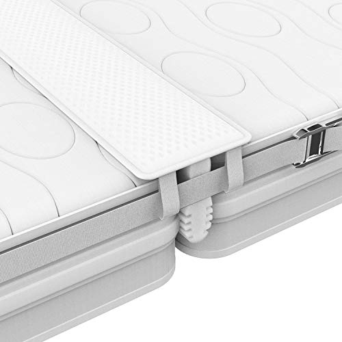 FLIPLINE Liebesbrücke ALL-IN-ONE Premium Set [200x18cm] für Familien & Paare mit rissfestem Bezug, Spanngurt und Transporttasche - doppelte Liegefläche ohne nachjustieren in 2 Min
