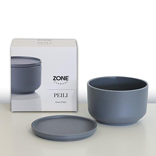 ZONE Schale PEILI mit Deckel, Melamin, cool grey, ca. 9 cm D | ZO-361008 | 5708760614110
