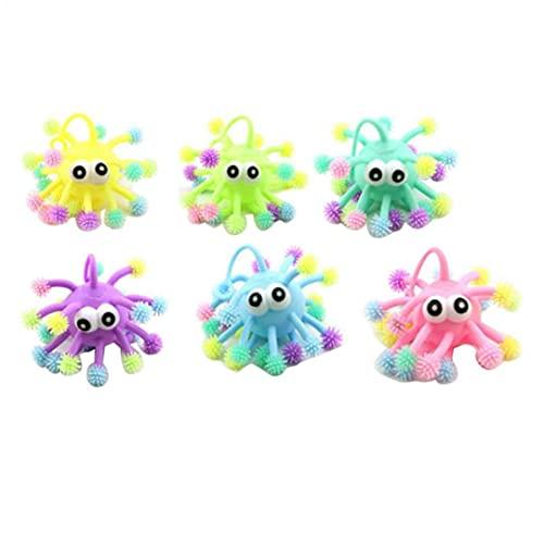 Berrywho Spikey Ball Toy Glödande Sensory Toy Stress Puffer Ball Med Led-ljus Random Color