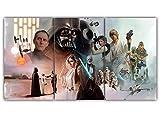 45Tdfc Arte Moderno de 3 Piezas Godzilla Rey de Monstruos Impresiones en Lienzo Cuadros Abstractos Pinturas sobre Lienzo Arte de la Pared para la decoración del hogar 50×70cm-3