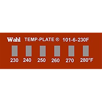 465 420 Inc. 480 and 500 degrees F 450 Wahl Instruments 101-6-420F Mini Six-Position Temp-Plate 435 Pack of 10