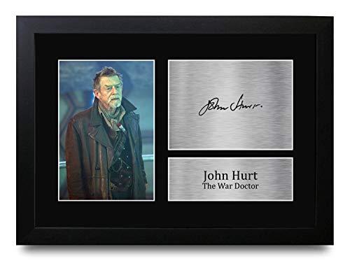 HWC Trading A4 FR John Hurt Dr. Who War Doctor Gifts gedrucktes Autogramm für TV-Show-Fans – A4 gerahmt