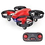 SNAPTAIN SP350 Mini Drone pour Enfant, Drone Jouet Télécommandé, 21 Mins Autonomie avec 3 Batteries, Mode sans Tête, Maintien de l'altitude, Facile à utiliser, Parfait pour Enfants et Débutants, Rouge