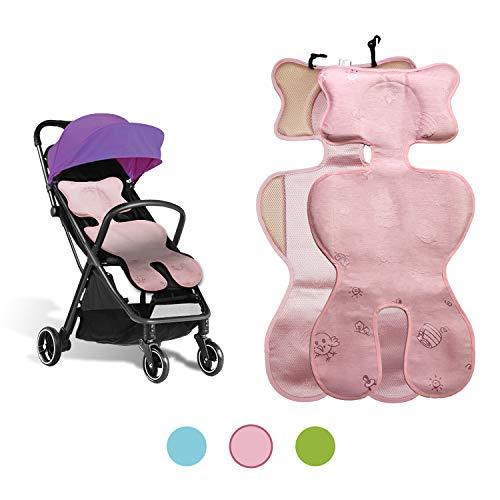 Sitzauflage sommer babyschale, kinderwagen einlage sommer, Sitzeinlage babyschale, Atmungsaktive universal sitzauflage, für babyschale autokindersitz schützt vor flecken (ice silk pink)