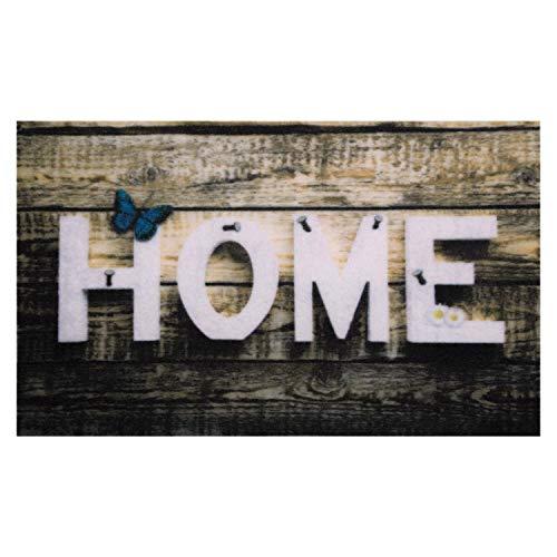 Valia Home Fußmatte - 3 Designs - Schmutzfangmatte Türmatte für Innen und Aussen - Fussmatte - Sauberlaufmatte rutschfest - Fußabtreter Haustür - Home Design 40 x 60 cm (Home 1)