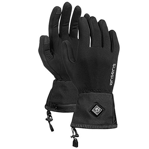 Heated Glove Liner | Electric Hand Warmer | Rechargeable Battery. Men & Women. (Large)