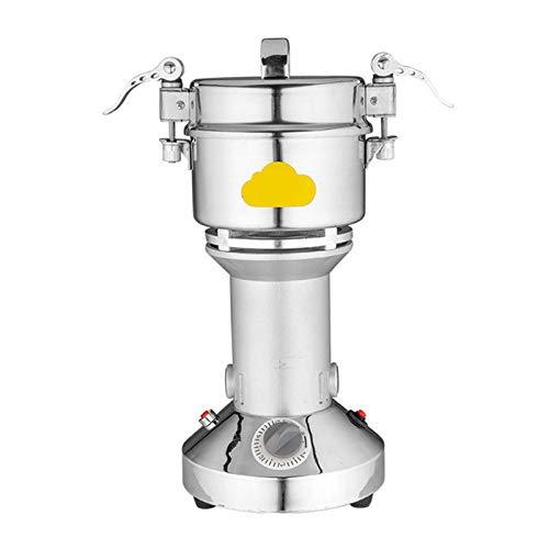 QHGao Getreidemühlenmühle, Zeitschaltuhr, Stellen Sie Die Dicke des Pulvers Nach Ihren Wünschen EIN. Edelstahl-Handelsqualität Für Die Küche, 800 G Tragbarer Brecher