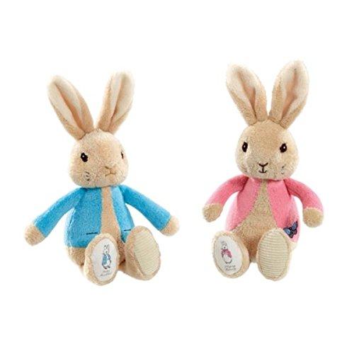 Peter Rabbit knuffel 19cm blauw/roze