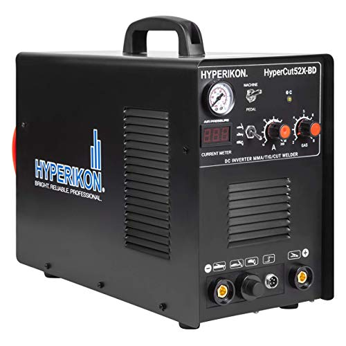 Hyperikon Plasma Cutter, 3 in 1 TIG Welder, IGBT Inverter, 120V 240V Dual Voltage