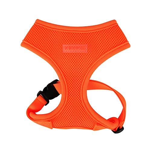 Puppia Hundegeschirr in Neonfarben - Hochwertig und Komfortabel - Auch als Welpengeschirr verwendbar, Orange, S, PAPA-AC1325-OR-S