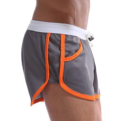 ITISME Shorts De Bain Hommes Été Short Homme Sport Coton avec Poche Running Court Accueil Loisir Mince Flèche Respirant Pantalons Courts