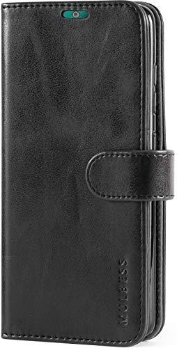 Mulbess Handyhülle für Nokia 2.2 Hülle Leder, Nokia 2.2 Handy Hüllen, Vintage Flip Handytasche Schutzhülle für Nokia 2.2 Hülle, Schwarz