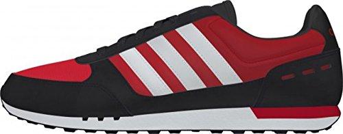 adidas Neo City Racer - Zapatillas para Hombre, Color Rojo/Blanco/Negro, Talla 39 1/3