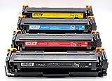 ASTA Tóner compatible para HP 203A 203X HP Color Laserjet Pro M254dw M254nw MFP M280nw MFP M281fdn MFP M281fdw (juego de 4 tóners CMYK/1400 negro 1300 colores)