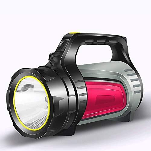 T-C LED lumen linterna Distancia Larga 500m Antorcha portátil, antorcha super brillante recargable, linterna de xenón LED de largo alcance, antorcha multifuncional de uso doméstico / exterior Impermea