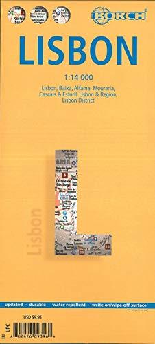 Lisbon, Lissabon, Borch Map: Lisbon, Baixa, Alfama, Mouraria, Cascais & Estoril, Lisbon & Region, Lisbon District: Einzelkarten: Lisboa, Baixa, ... Lisboa & Regiao, Distrido Lisboa (Borch Maps)