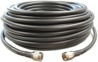 100 feet of Equivalent Ultra Low Loss Coax Cable *Black Color* with N Male Ends